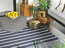 Outdoor Rug Mat Blue Synthetic 120 x 180 cm