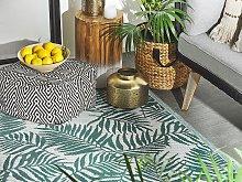 Outdoor Rug Mat Dark Green Synthetic 120 x 180 cm