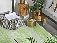 Outdoor Rug Mat Green Synthetic 120 x 180 cm Eco