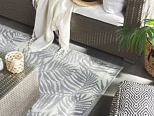 Outdoor Rug Mat Grey Synthetic 160 x 230 cm Palm