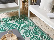 Outdoor Rug Mat Mint Green Synthetic 120 x 180 cm