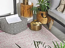 Outdoor Rug Mat Pink Synthetic 120 x 180 cm Eco