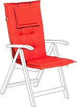 Outdoor Seat/Back Cushion Light Red TOSCANA