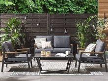 Outdoor Sofa Set Dark Grey Aluminium Frame Couch
