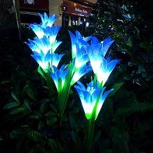 Outdoor Solar Lamp LED Light Lily Flower Stake