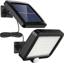 Outdoor solar light with 56 LED motion detector,