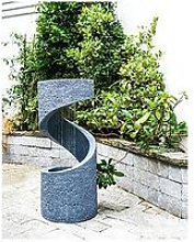 Outdoor Spiral Water Feature Cement