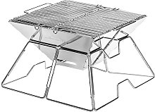 Outdoor Stainless Steel Grill Folding Portable