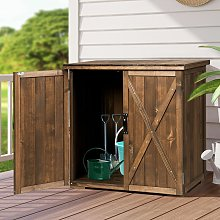 Outdoor Storage Shed Garden Patio Wood Utility