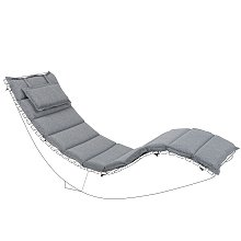 Outdoor Sun Lounger Cushion Polyester with Head