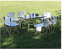 Outdoor table and chair set Camping aluminum alloy