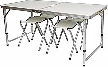 Outdoor table and chair set Portable folding