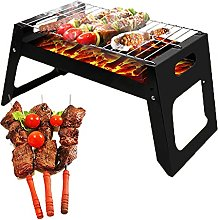 Outdoor Travel BBQ, Black Iron Charcoal BBQ Grill