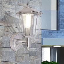 Outdoor Uplight Wall Lantern Stainless Steel