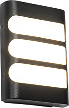 Outdoor wall lamp black incl. LED with light /