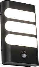 Outdoor wall lamp black incl. LED with motion