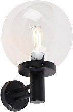 Outdoor wall lamp black with plastic IP44