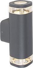 Outdoor wall lamp dark gray IP54 2-light - Fox
