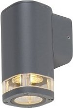 Outdoor wall lamp square 1-light dark gray IP54 -
