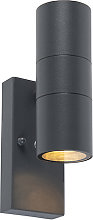 Outdoor Wall Lamp with Twilight Switch Anthracite