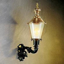 Outdoor wall light Hoorn, uplight, green