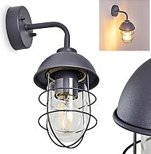 Outdoor Wall Light Toftlund in Grey Metal and