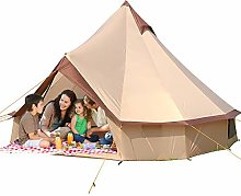 Outdoor Waterproof Family Camping Bell Tent, Bell