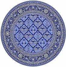 OUTGYM Vintage Round Rug Traditional Round Carpet