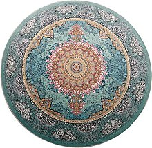 OUTGYM Vintage Round Rug Traditional Rug with