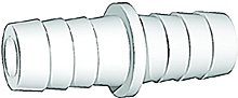 Outlet Hose Connector, White, 15 mm