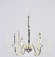 Outline Chandelier, Metal, White