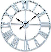 Outside Wall Clock for Garden,Large Metal Skeleton