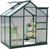 Outsunny 1.9x1.3x2 m Walk-In Mini Greenhouse-Dark