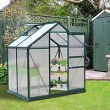 Outsunny 1.9x1.3x2 m Walk-In Mini Greenhouse-Dark