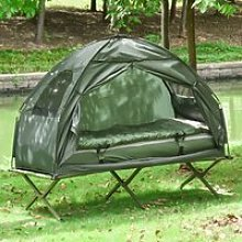 Outsunny 1-person Foldable Bag Tent W/ Sleeping