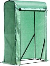 Outsunny 100x50x150cm PVC Grid Cover Steel Frame