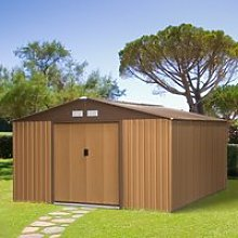 Outsunny 13ft x 11ft Outdoor Garden Roofed Metal