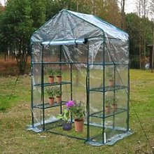 Outsunny 143Lx73Wx195H cm Steel Frame Polytunnel