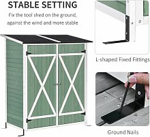 Outsunny 2.2x4.1ft Wooden Garden Storage Shed