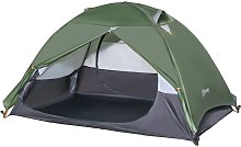 Outsunny 2 Man Camping Tent w/ 2 Doors Mesh