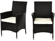 Outsunny 2 PC Rattan Chairs Set-Dark Coffee