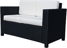 Outsunny 2 Seater Rattan Sofa Wicker Outdoor
