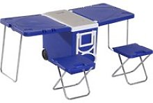 Outsunny 28L Cooler Box Folding Table Chair Set