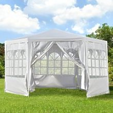 Outsunny 3.4m Gazebo Canopy Party Tent with 6