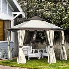 Outsunny 3.4m Steel Gazebo Canopy Party Tent