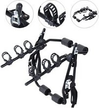 Outsunny 3 Bicycles Car Carrier Rack-Black