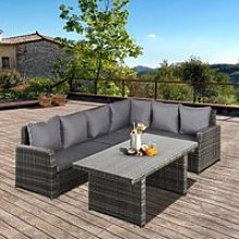 Outsunny 3 PCS Outdoor Patio Dining Table Sets All
