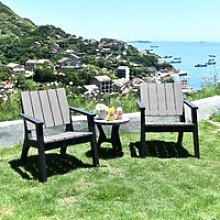 Outsunny 3 Piece Patio Bistro Set Outdoor Garden