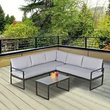 Outsunny 3 Pieces Garden Furniture Set Indoor