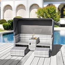 Outsunny 3 Pieces Outdoor PE Rattan Patio
